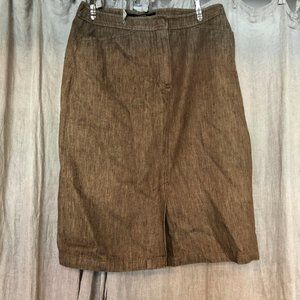 MaxMara Italy rich khaki Out of Africa pencil skir